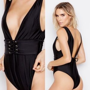 Other - Bond Girl Black One Piece Swimsuit